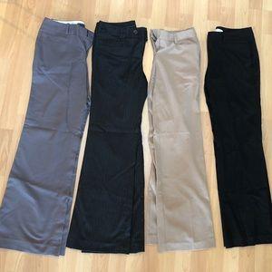 Lot of 5 petite women's dress pants